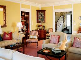 Popular Living Room Colors by Country Living Room Color Schemes With Classic Furniture Design