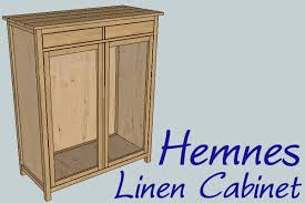 ana white hemnes linen cabinet diy projects