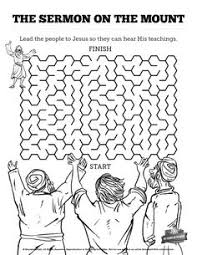 Sermon On The Mount Beatitudes Bible Mazes With Just Enough Challenge To Keep