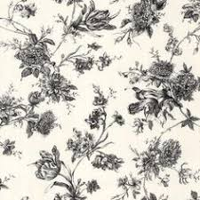 Black And White Large Floral Wallpaper
