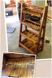 wood shelf diy pallet wood ladder shelf building wood shelf