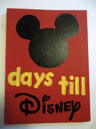 Days Till Disney Countdown Sign By Twistedhomeaccents On Etsy