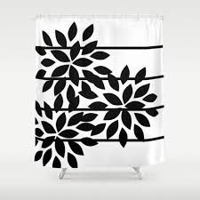 Black And White Flower Shower Curtain by Shower Curtains U2013 Hlb Home Designs