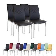 4 x esszimmerstühle verona schwarz chrom esszimmerstuhl
