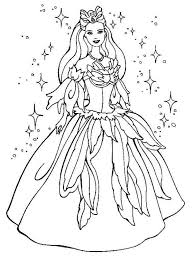 Barbie Magical Dress Coloring Pages