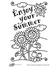 Crayolas Free Summer Coloring Pages
