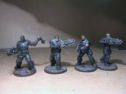 Gears Of War Miniatures From Fantasy Flights Board Game