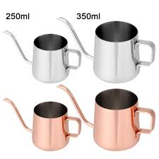 250ml 350ml Stainless Steel Teapot Drip Coffee Pot Long Spout Kettle Cup Home Kitchen Tea