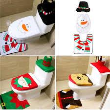 flameer 3 teile satz weihnachten bad wc sitzbezug teppich