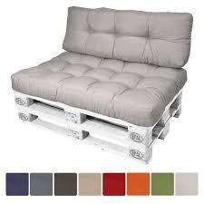 coussins pour canape style coussins pour canape palette gris clair 120x40x15 cm