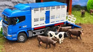 100 Bruder Trucks BRUDER Truck COWs Transport Toys 2018 NEWS Kids Video