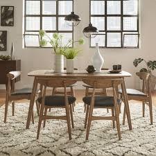 Shop Norwegian Danish Modern Chestnut Tapered Dining Set By INSPIRE Q