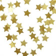 weihnachts deko sternen kette 4m gold