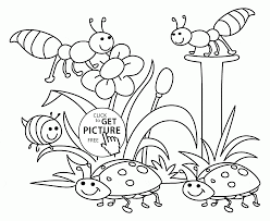 Nature Coloring Page Around The House Pages Home