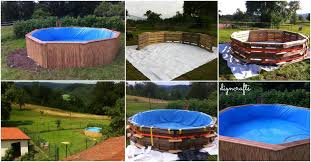 How Make Your Own Pallet Pool Beat The Heat And Splash Around In Style