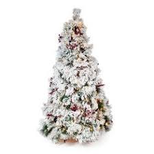 Slim Pre Lit Christmas Tree 75 by Belham Living 7 5 Ft Flocked Pine Needle Slim Pre Lit Christmas