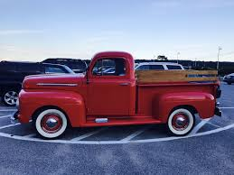 100 Stepside Trucks 1951 Red Ford Stepside Pick Up Vintage Pick Ups Pinterest Old