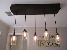 Classic Style Rustic Ceiling Lights Glass Pendant With 5 Light Bulb Also