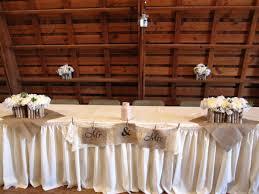 Head Table Wedding Rustic