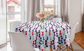 abakuhaus tischdecke kreis tischdecke abdeckung für esszimmer küche dekoration kätzchen baby katzen blumen farben kaufen otto