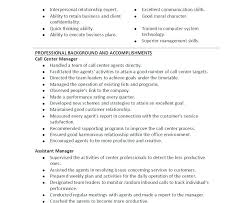 Resume Examples For Call Center Manager Combined With Sample Download