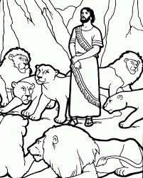 Daniel And The Lions Den Picture Coloring Page