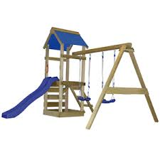Image Is Loading Garden Swing Set Kids Outdoor Wooden Play Centre