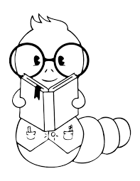 Book Worm Coloring Pages