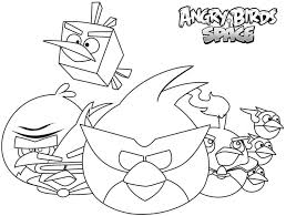 Angry Bird Space Coloring Pages New Birds