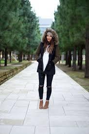 Winter Coat Black Jeans