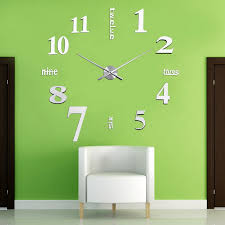 Fashion 1 PC DIY Large 3D Wall Clock Mirror Sticker Home Decor 5 Colors Stickers VB120 T20 In Clocks From Garden On