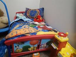 Elmo Toddler Bed Set by Mickey Mouse Plastic Toddler Bed Walmart Com