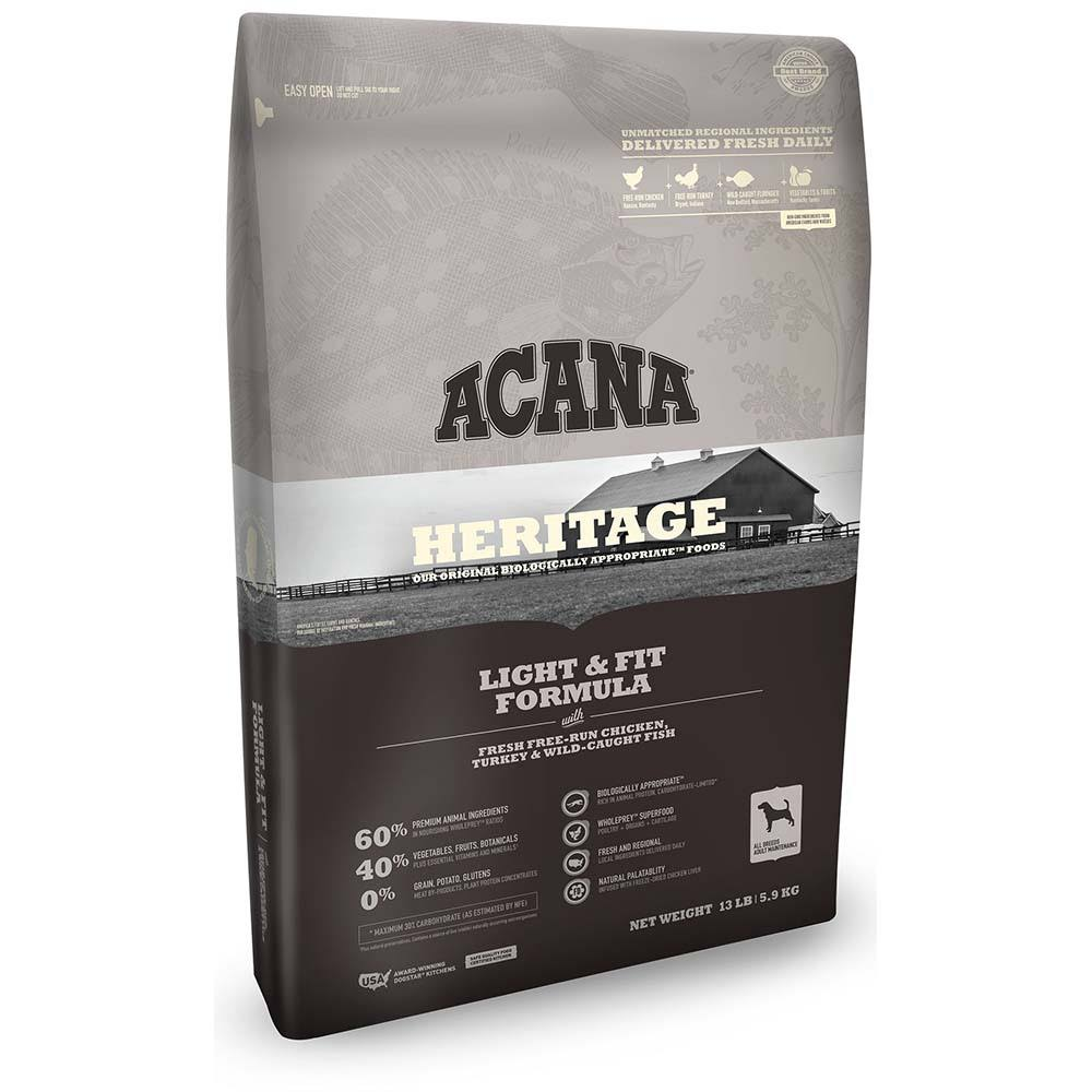 ACANA Heritage Light & Fit Formula Dry Dog Food 25-lb