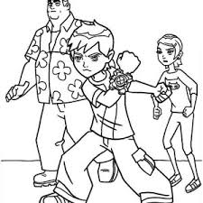 Young Ben Granpa Max And Gwen In 10 Coloring Page