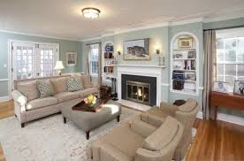 traditional living room with wall sconce carpet in minneapolis