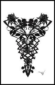 Gothic Vampire Back Tattoo By Quicksilverfury