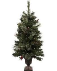 Astella 44 Ft Pre Lit Slim Flocked Artificial Christmas Tree With 50