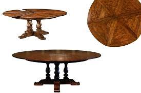 Round Dining Tables With Leaves Expandable Rustic Table Hidden Room