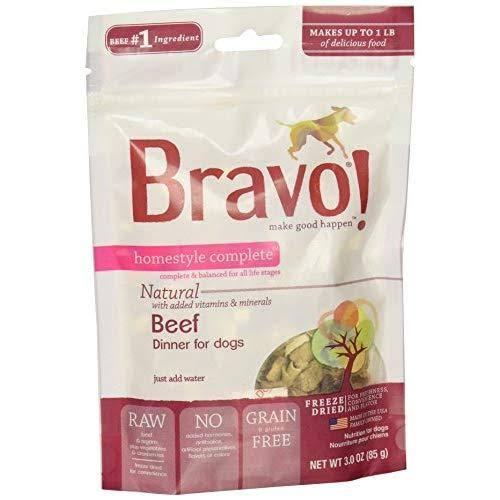 Bravo! Homestyle Complete Dog Food - Beef Dinner, 3oz