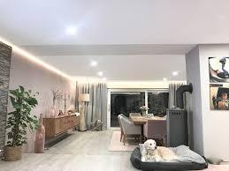 wohnzimmer 3 teilig mit indirekter led beleuchtung frieg