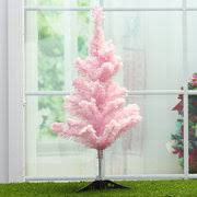 2ft 3ft 4ft 5ft Pink Artificial Christmas Tree DIY Decoration Stand Indoor