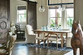 Mediterranean Dining Room Style With Beautiful Barn Doors From Interior Design
