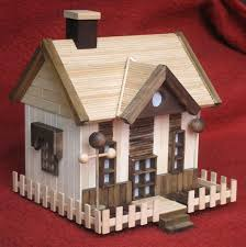 The Third Popsicle Stick House We Have Made From Big3