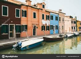 100 Boat Homes Panoramic View Of Coloured Homes And Water Canal With Boats