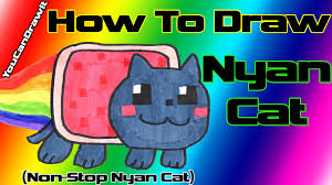 How To Draw Nyan Cat From Non Stop YouCanDrawIt 1080p HD