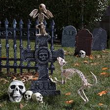 Halloween Cemetery Fence Ideas by Pet Cemetery Cat And Bird Idea Party City