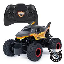 100 Rc Truck Stop Monster Jam Official Fire Ice Megalodon RC 124 Scale 24 GHz For Ages 4 And Up Walmartcom