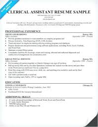 Clerical Job Resume Examples Resumes Simple Best Templates New Template Sample Of Support