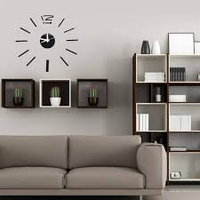 US 421 41 OFFModern Design DIY Acrylic Mirror Wall Clocks 3D Sticker Clock Home Decoration Living Room Home Decor Art Quartz Wall Clocksin Wall