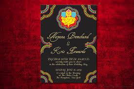 GANESHA Indian Wedding Invitation Design Card Engagement Party